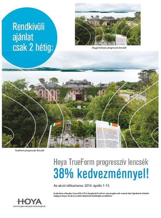 Hoya trueform progresszív szemüveglencse akció