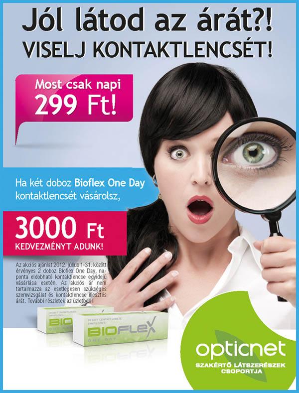 bioflex one day kontaktlencse akció