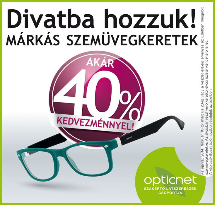 """title=""""Márkás szemüvegkeret akció"""""""
