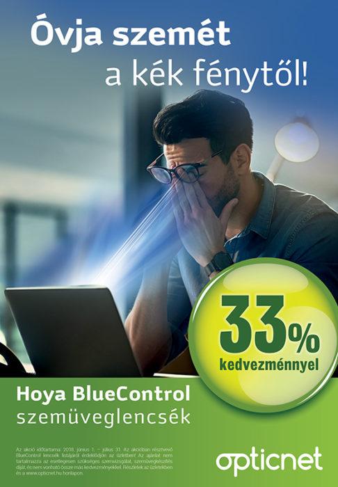 Hoya BlueControl szemüveglencsék 33% kedvezménnyel!