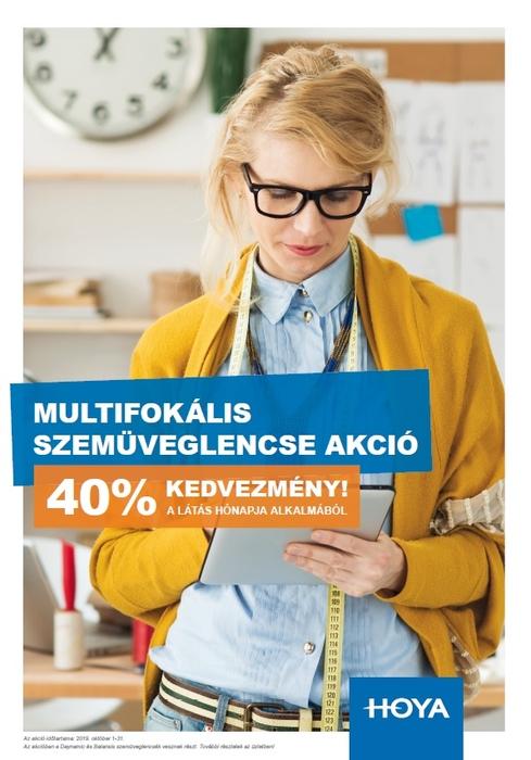 Látás hónapja alkalmából HOYA multifokális lencsék 40% kedvezménnyel