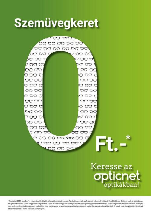 Szemüvegkeret 0Ft - akció