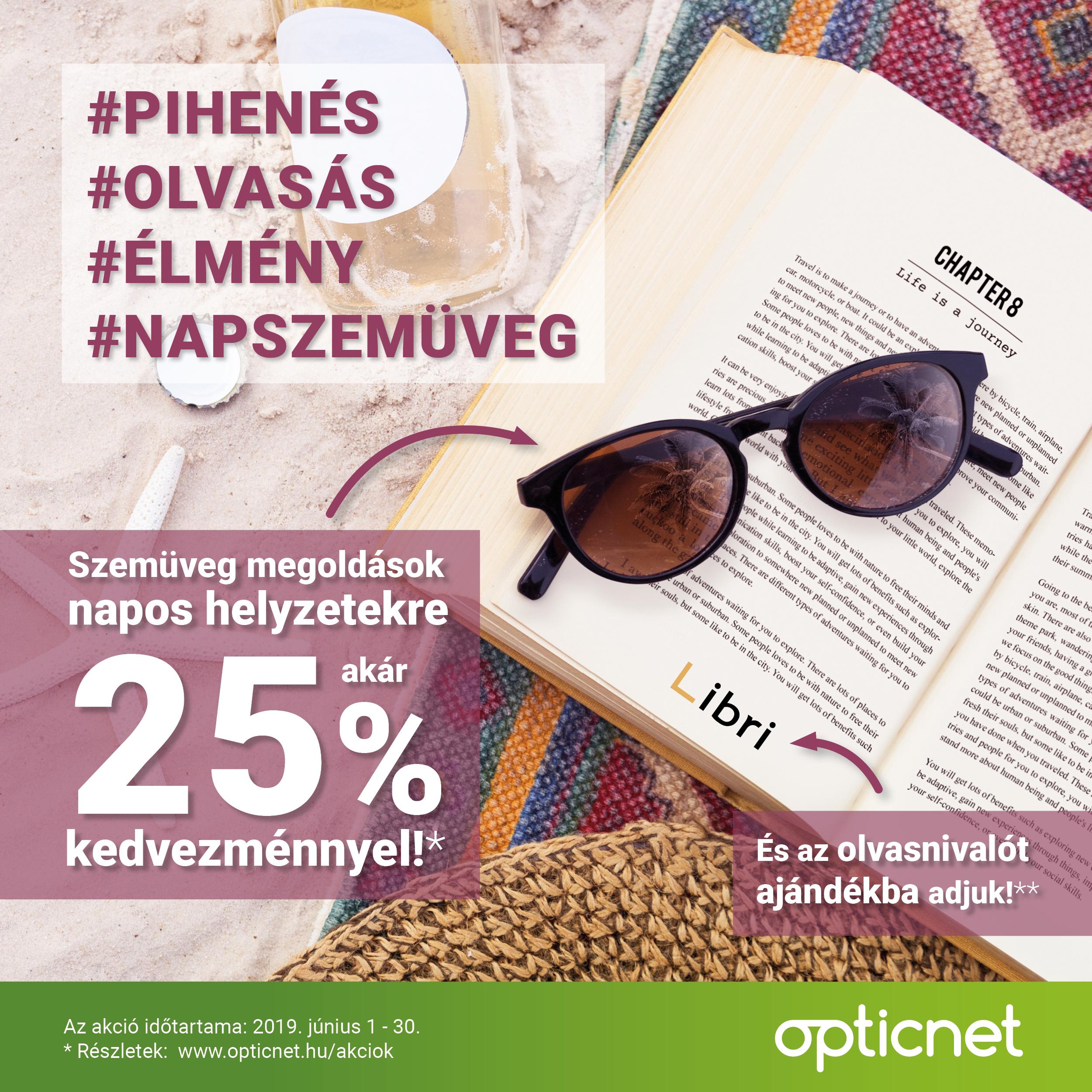 Szemüveg megoldások napos helyzetekre akár 25% kedvezménnyel