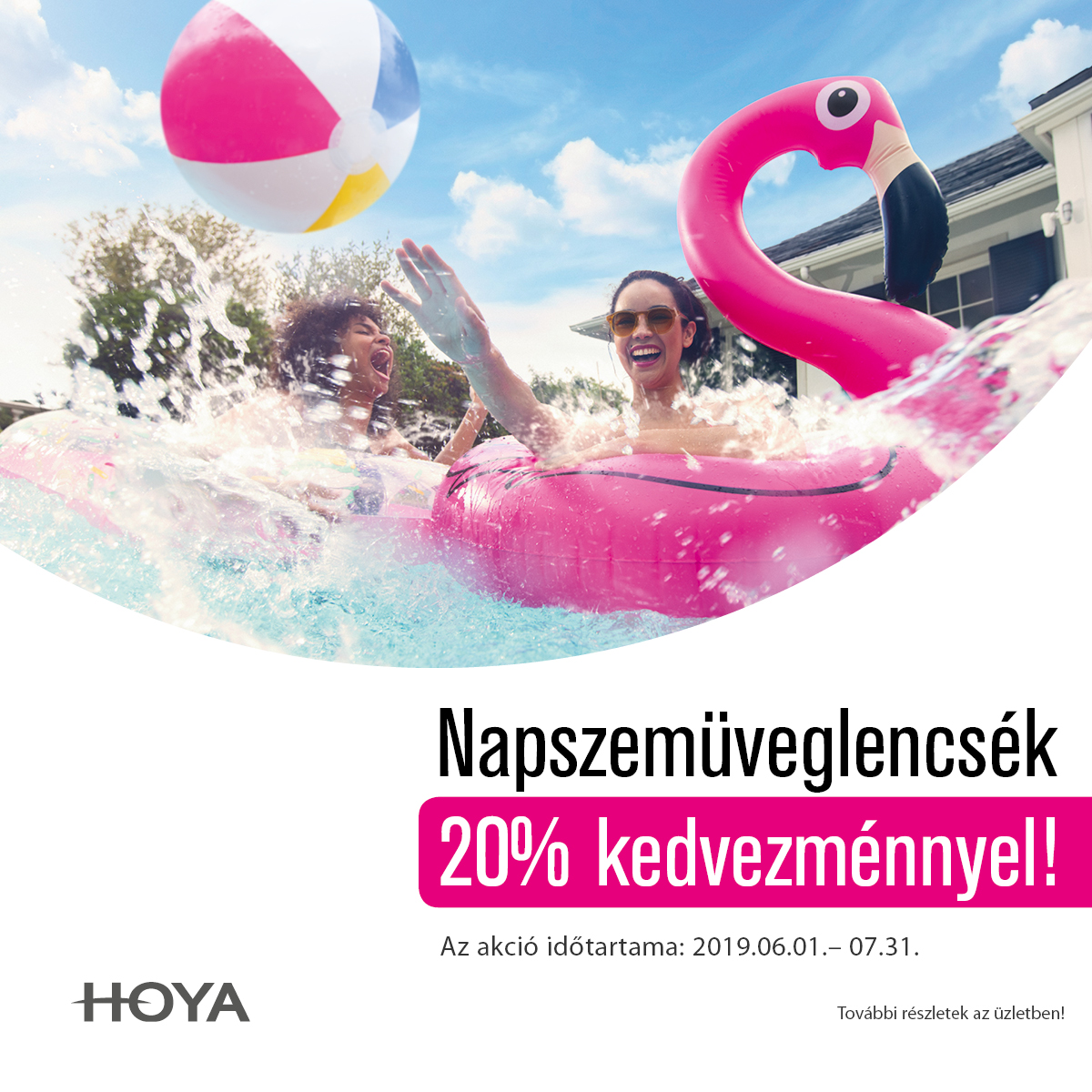 Hoya napszemüveglencsék 20% kedvezménnyel!