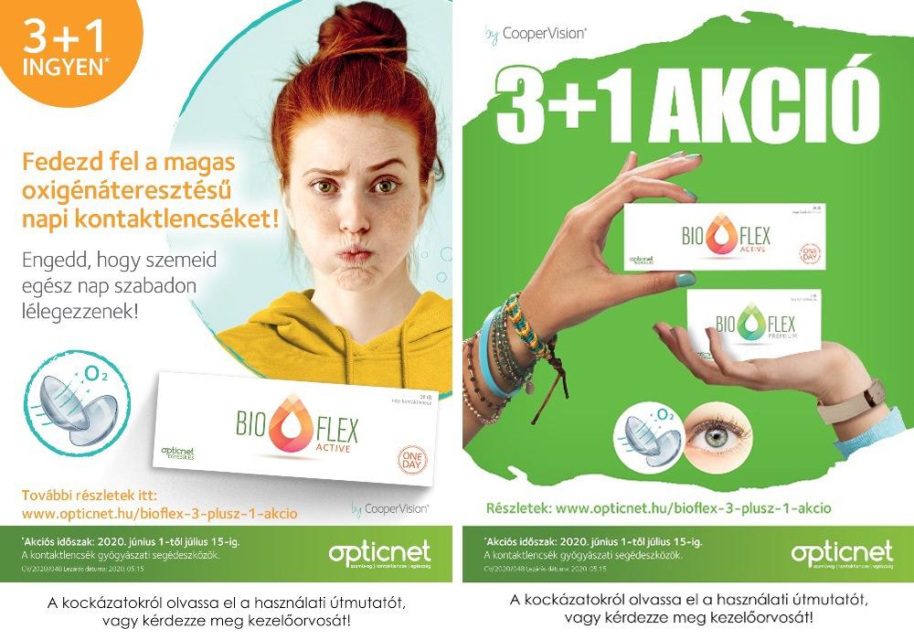 Bioflex kontaktlencse 3+1 akció